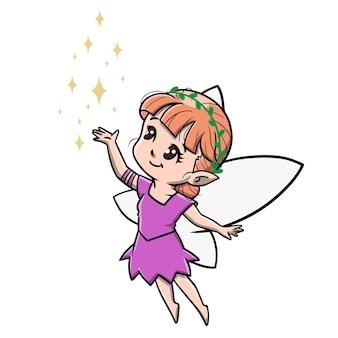 Милый мультфильм фея