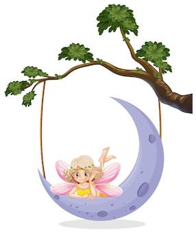Fata carina sulla luna