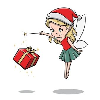 Милая фея на рождество мультфильм