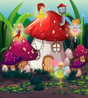 Cute fairy at thr magic land