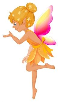 Cute fairy in yellow dress