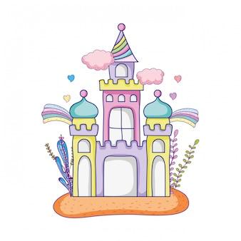 Cute fairytale castle in the landscape