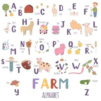 Cute farm alphabet