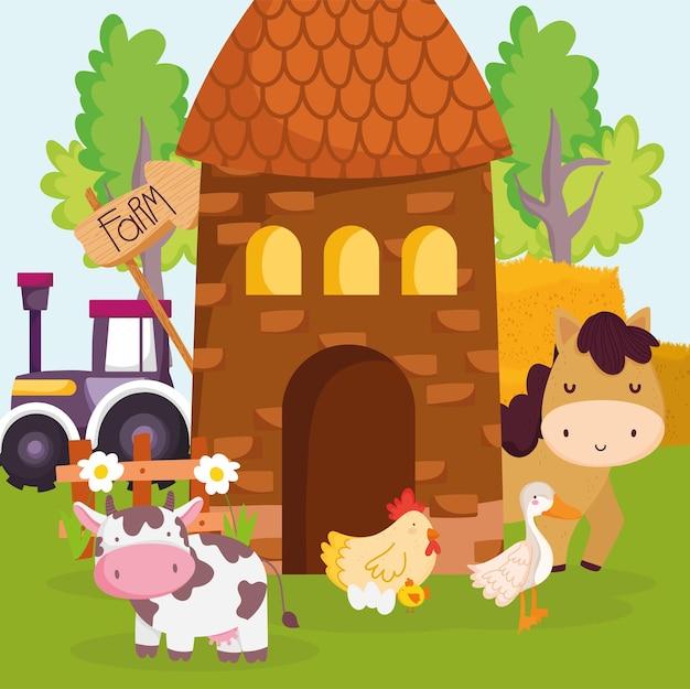 Милые животные на ферме