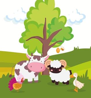 귀여운 농장 동물