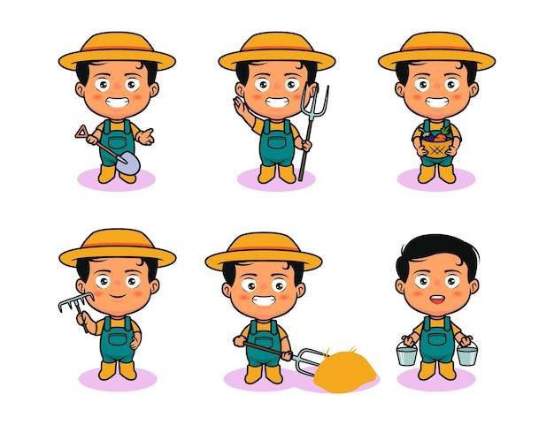 Cute farmer character