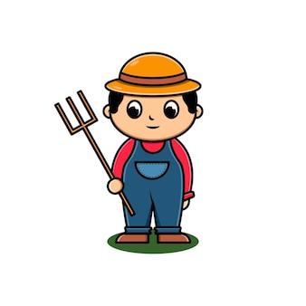 かわいい農夫のキャラクター