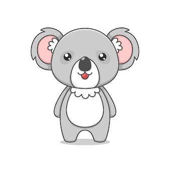Cute fat koala character