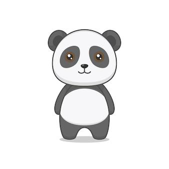 Cute fat panda character