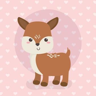Cute fawn animal farm character