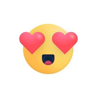사랑 미소 아이콘에 귀여운 느낌입니다. isolade 로맨틱 만화 이모티콘 얼굴입니다. 매력적인 감정입니다.