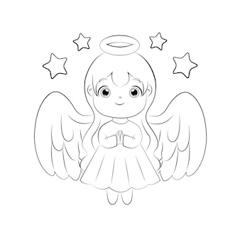 Милый женский ангел для рождественского украшения