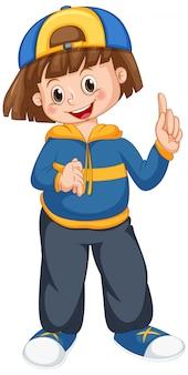 A cute female character