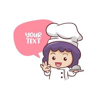 Cute female chef
