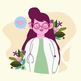 Милая женщина-врач