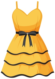 Cute female dress on white background