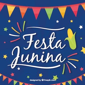Cute festa junina background