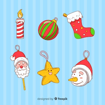 Cute festive decoration for christmas party on blue background