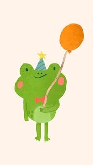 귀여운 축제 개구리 요소