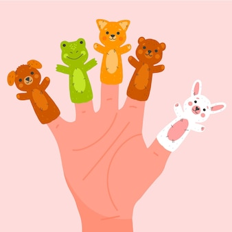 귀여운 손가락 인형 컬렉션