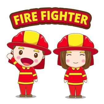 かわいい消防士のキャラクター