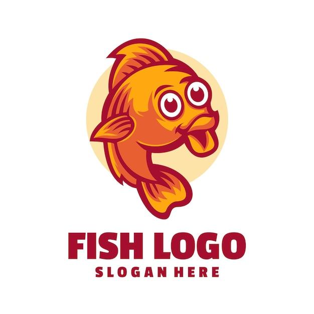 Милая рыбка 3 дизайн логотипа