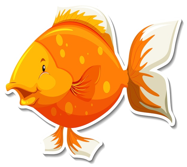Adesivo simpatico cartone animato di animali marini di pesce