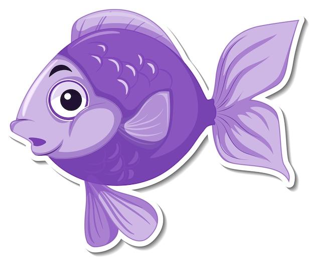 귀여운 물고기 바다 동물 만화 스티커