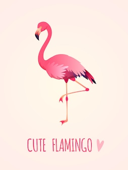 Cute flamingo illustration