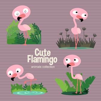 Симпатичный фламинго