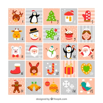 Cute flat advent calendar