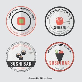 Симпатичные плоские наклейки япония