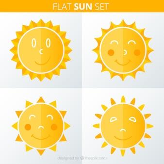 Симпатичные плоские солнц
