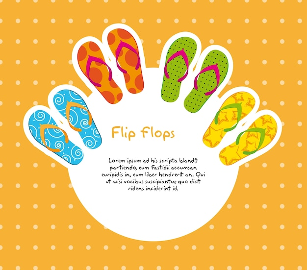 Cute flip flops with space for copy