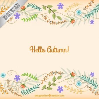 Cute floral autumn background