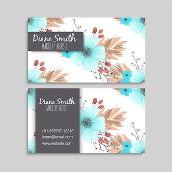 Cute floral business card