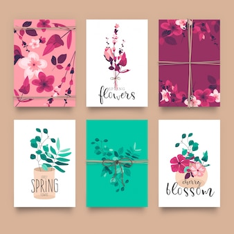 Cute floral card templates