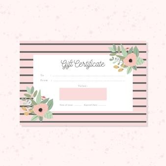 Cute floral gift certificate