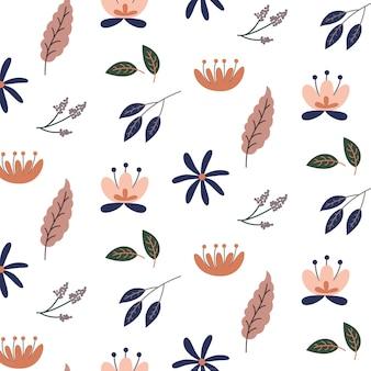 귀여운 꽃 패턴 배경