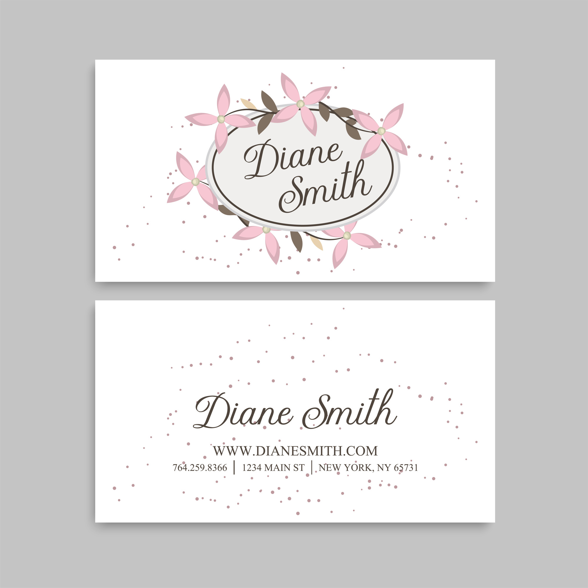 New graphics vectors 225300 files in eps format cute floral pattern business card name card design template friedricerecipe Choice Image