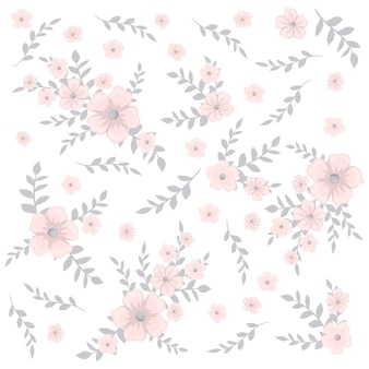 작은 꽃에 귀여운 꽃 패턴