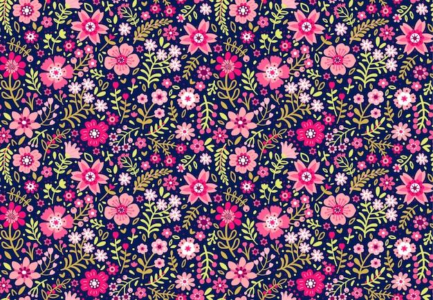 작은 꽃에 귀여운 꽃 패턴입니다. ditsy 인쇄. 원활한.