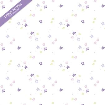 귀여운 꽃 패턴. 나뭇잎과 꽃 손 그려진 된 완벽 한 패턴입니다.