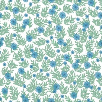 귀여운 꽃 패턴 작은 여름 푸른 꽃과 함께 배경에 예쁜 봄 꽃