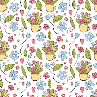 Cute floral pattern in the small flower. ditsy print . motifs scattered random.