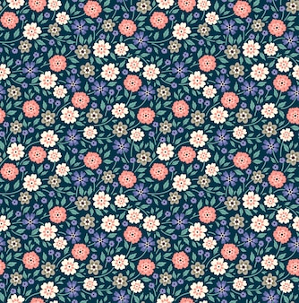 Cute floral pattern in the small flowers. ditsy print. seamless vector background. elegant template for fashion prints.
