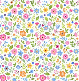 Cute floral pattern in the small flowers. ditsy print. seamless vector texture.