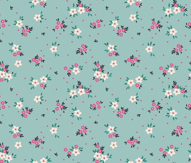 Cute floral pattern in the small white flowers.