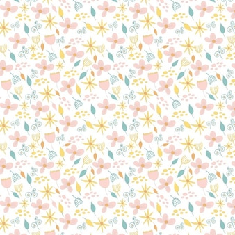 Cute floral pattern in vintage style