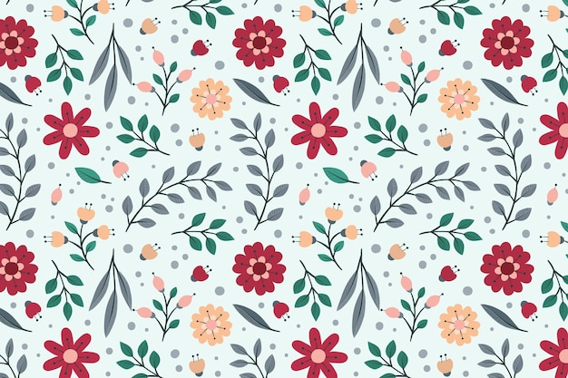Cute floral seamless pattern template